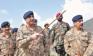 Army chief reiterates support to Kashmiris' struggle