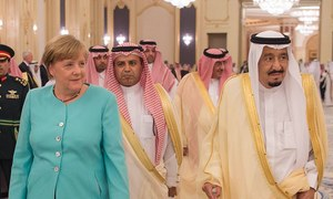 German chancellor in S. Arabia for G20, cooperation talks