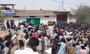 Tense calm in Hub after protest over 'blasphemy'