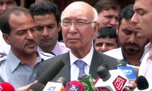 Pak-Iran border commission formed to work on outstanding issues, Sartaj Aziz says