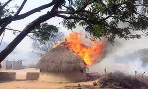 More than 500 houses reduced to ashes in Tharparkar