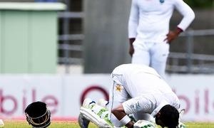 Azhar Ali's century anchors cautious Pakistan to 376 in third Test