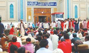 Literary events, dhamal & malakhro feature on second day of Qalandar's Urs