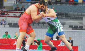 Pakistan's wrestlers, Raheela fall in Baku