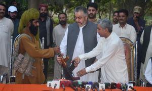 26 Baloch militants surrender to authorities