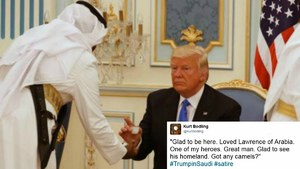 Twitter has a field day with Trump's awkward moments at the Riyadh Summit