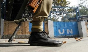 Indian troops open fire at vehicle carrying UN military observers