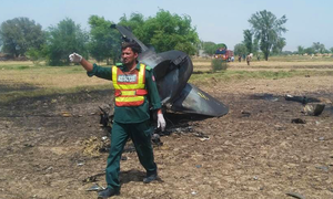 PAF jet crashes while on routine training near Mianwali