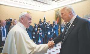 Trump has just met with the new leader of the secular world — Pope Francis