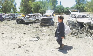 Suicide blast, clashes on first day of Ramazan kill 54 in Afghanistan