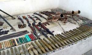 Large cache of weapons seized from North Waziristan: ISPR