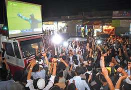 Six injured as celebrations erupt in KP after Pakistan's win