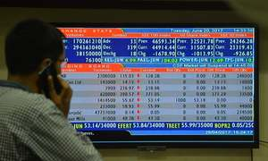 Panic-selling drags KSE-100 index below 45,000 points