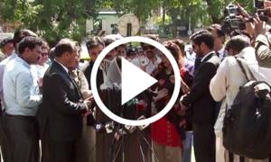 تحریک انصاف کی خواتین مریم اورنگزیب سے الجھ پڑیں