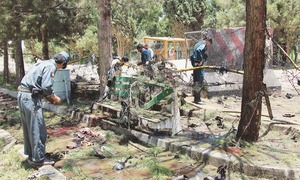 34 dead as car bomb hits bank in Afghanistan