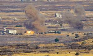 Israel strikes at Syrian positions for second day running