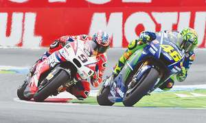 Rossi king in Assen as Vinales crashes out