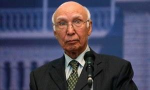 Isolated India reaching out to US to pressurise China: Sartaj Aziz