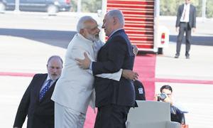 Israel rolls out the red carpet  for Modi; Iran talks Kashmir