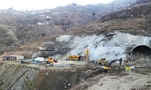 Battagram locals halt work on CPEC project again over non-payment of compensation