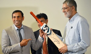 Younis Khan donates bat to TCF with which he achieved 10,000 runs milestone