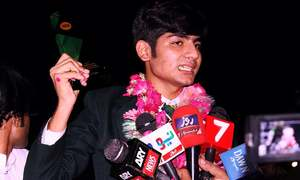 Pakistan's first-ever Under-18 Snooker World Champion arrives home in Sahiwal