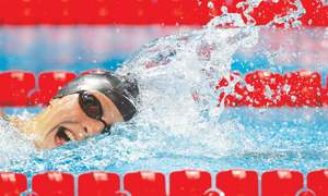 Ledecky starts worlds with a pair of golds