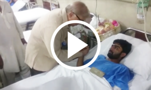 وزیر اعلیٰ پنجاب کی لاہور دھماکے کے زخمیوں کی عیادت