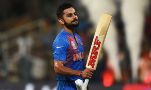 Kohli donates signed bat to Shahid Afridi Foundation