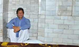 What brings PTI chief to a remote town?