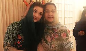 Maryam, Kulsoom arrive in Lahore