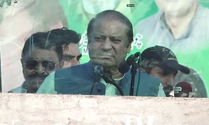 GT Road rally: 'Only the people should kick out those they vote into power,' Nawaz says in Jhelum