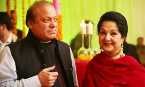 Kulsoom Nawaz files nomination papers as PML-N's candidate for NA-120 by-polls