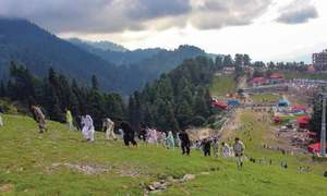 First uphill race in Malam Jabba
