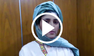 عائشہ گلالئی کی پگڑی پہن کر قومی اسمبلی آمد