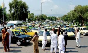 Taxi drivers protest ridesharing apps