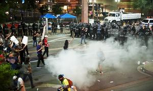 Protests turn unruly after Trump's Phoenix speech