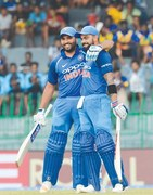 Kohli, Sharma lead India rout of Sri Lanka in fourth ODI