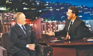 Jimmy Kimmel mocks Sean Spicer to his face about Trump inauguration crowd size