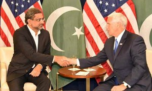 Pakistan, US agree to remain engaged as Abbasi meets vice president Mike Pence