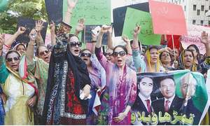 PPP activists protest allegations against Zardari