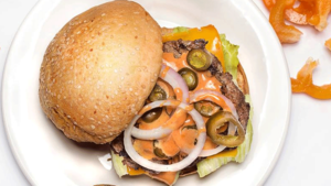 Craving a juicy, spicy, meaty burger? Takeaway joint Burger105 promises to satiate your hunger