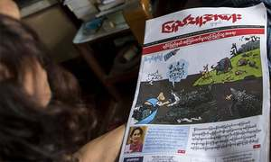 Myanmar cartoonists lead media-jeering as Rohingya flee