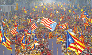 What nine countries founded in past 25 years teach Catalonia?