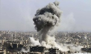 شام:امریکی اتحاد کی فضائی کارروائی میں 18 شہری ہلاک