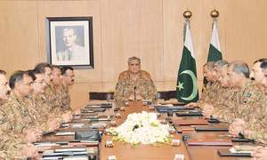 COAS Bajwa chairs 'seven-hour' huddle at General Headquarters