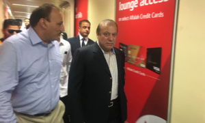 Nawaz Sharif departs for London to see ailing wife