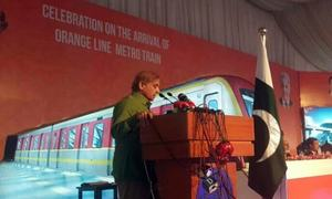 CM Shahbaz celebrates arrival of Orange-Line Metro in Lahore