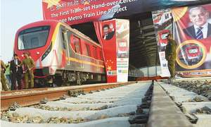 First train of Orange Line project unveiled in Lahore