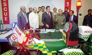 Motorcycle ambulances see the light of day